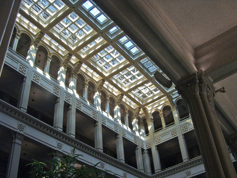 Atrium and skylight.