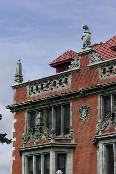 Folwell Hall Gargoyles, recently restored.