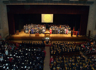 A commencement at Northrop.