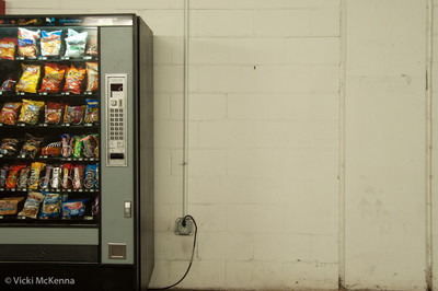 Lonely vending machine in the tunnels of MIT.