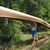 Jim Blauch arrived with one Kevlar canoe (45 pounds) plus his pack of tent and sleeping equipment.
