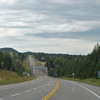 Typical stretch of Trans Canadian Highway #17 along the north shore of Lake Superior.