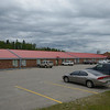 """One of the trip low points. Ominous clouds gather over <br /> the Zero 100 """"Motor Inn"""" in Marathon, Ontario.<br /> Morning of July 25, 2012"""