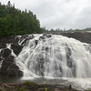 Magpie High Falls, ON. just south of Wawa off highway 17 on the Magpie River.<br /> 75 feet high and flow is dam controlled.  Our lunch spot in the rain on July 25, 2012.