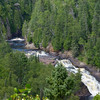 Upper Falls of the Brule River in Judge C. R. Magney State Park, MN. (downstream from Devil's Kettle).<br /> July 23, 2012