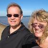 Windblown on the bank of Lake Michigan.