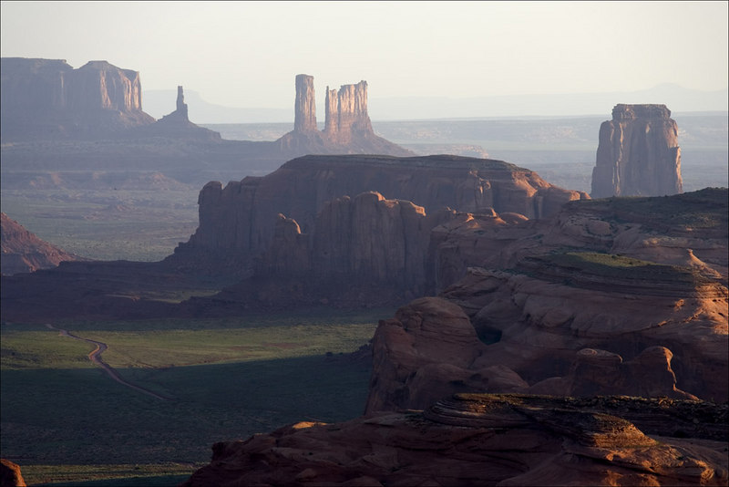 VIEW OF BUTTES FROM HUNT'S MESA