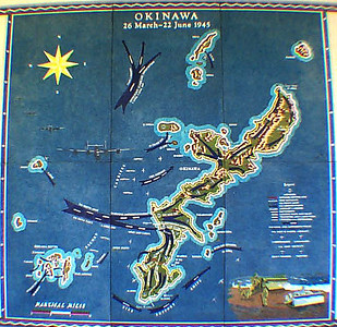 Okinawa Map at National Cemetery of Pacific