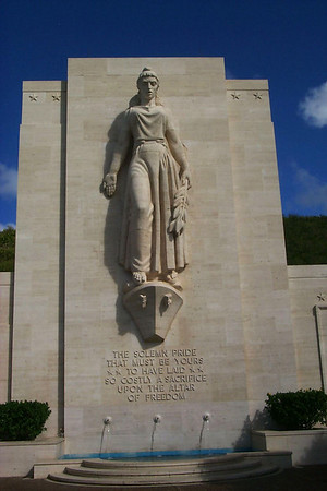 National Cemetery of Pacific Statue