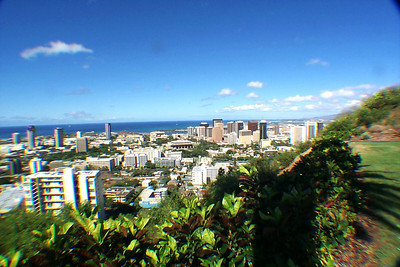 Cemetery View from Hill over Honolulu