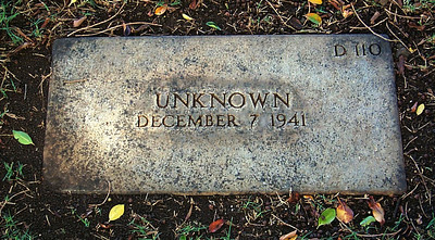 Unknown Grave from December 7, 1941
