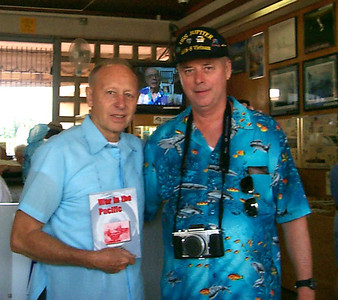 Author of War in the Pacific with Mike