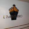 Signage to one of the most elegant bars onboard paying homage to old ocean liners of the past.