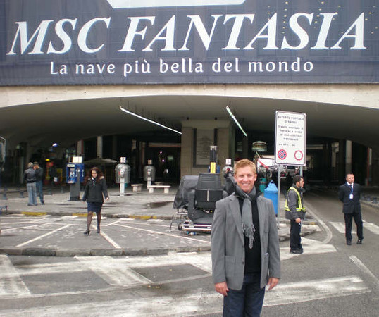 Tom Baker of CruiseCenter was privileged to be one of very few North American travel agents invited the the christening of the exciting NEW MSC Fantasia in Naples, Italy December 17-28, 2008.