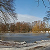 A snowy panorama from Boultham Park