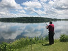 Craig Jennings fishing on MacDonell island