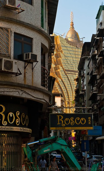 The Lisboa Casino looms over much of old Macao