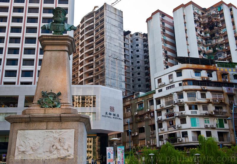 Vasco da Gama park, just across the street from my hotel in Macau.