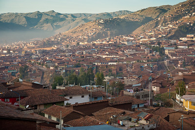 Cusco, view from the train on the way to Machu Picchu