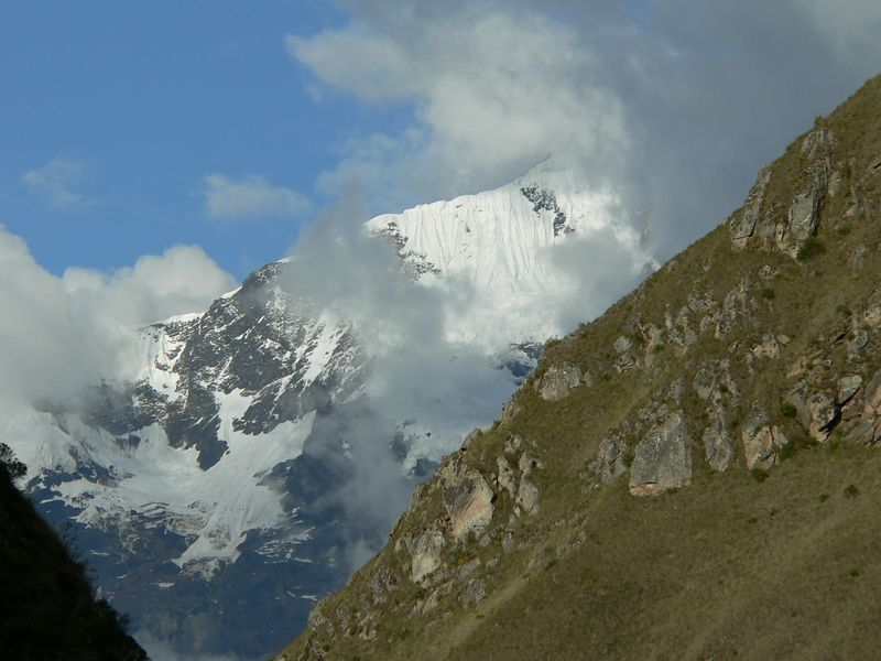 This is Mt. Veronica, as seen from out first campsite on the Inca Trail. Remember that snowline is about 15,000 ft.