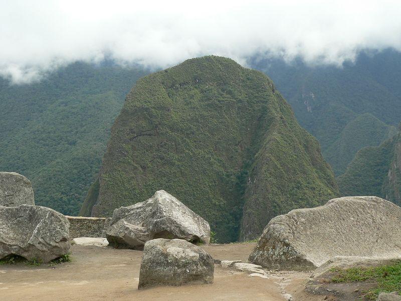 The mountains surrounding Machu Picchu were incredible.