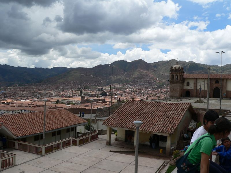 Here's a view of Cuszco from up on a hill. This is the direction from which the train exits the city for Machu Picchu.