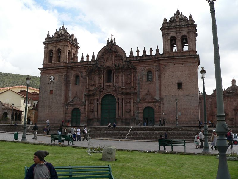 This is the cathedral in the Plaza de Armas, about three blocks from our hostal.