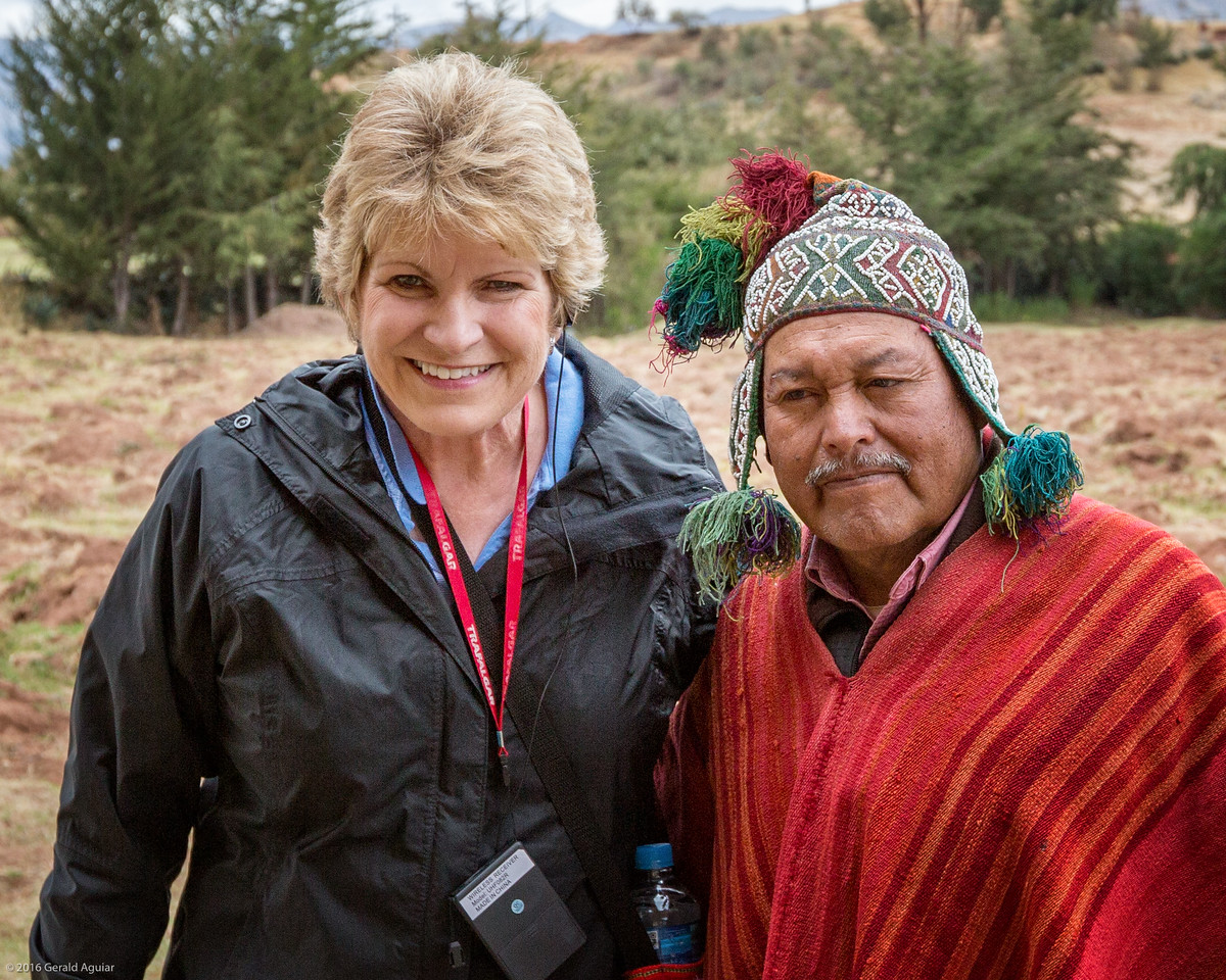 Jenny with our Shaman