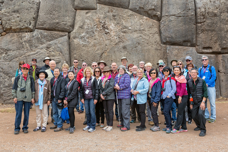 Trafalgar Group Photo - Saqsaywaman Ruins
