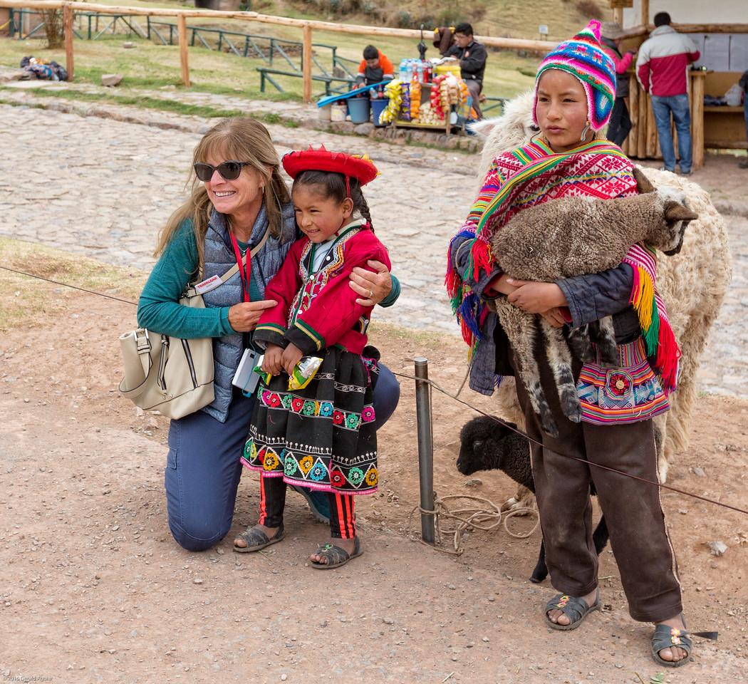 Debbie with Peruvian Children
