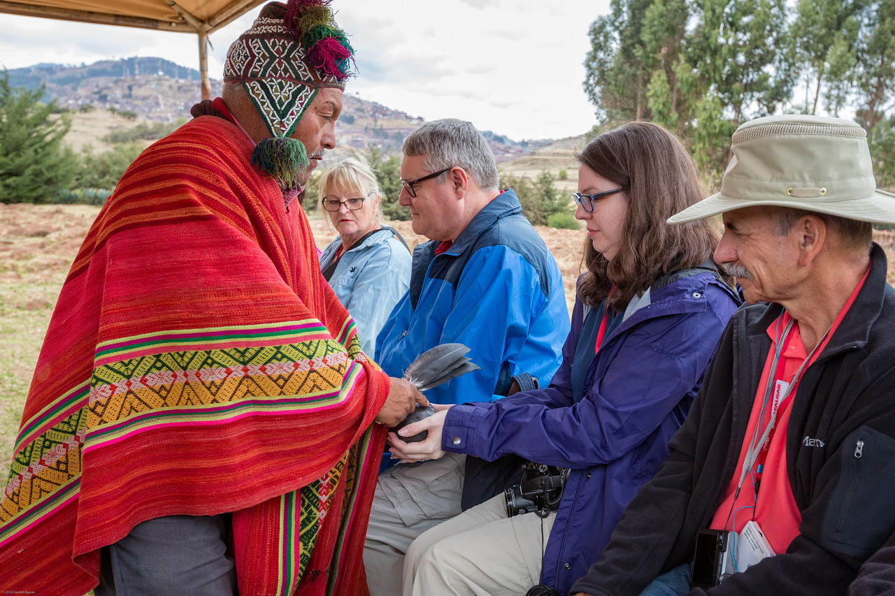 Shaman Blessing each member  of our Group
