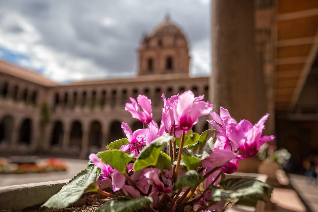 Courtyard of the Convent de Santo Domingo Del Cusco