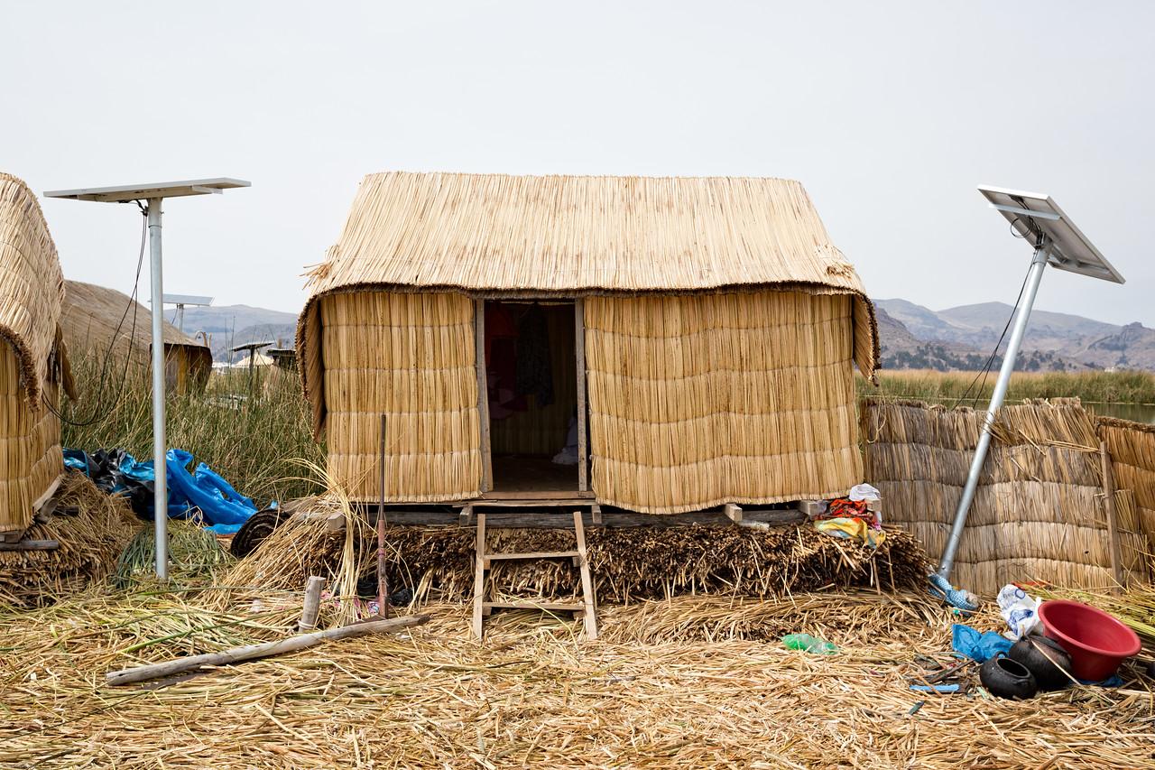 Juana's Hut and Solar Panels