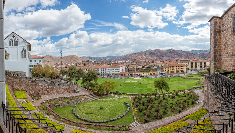 Panoramic View of Cusco From Santo Domingo del Cusco