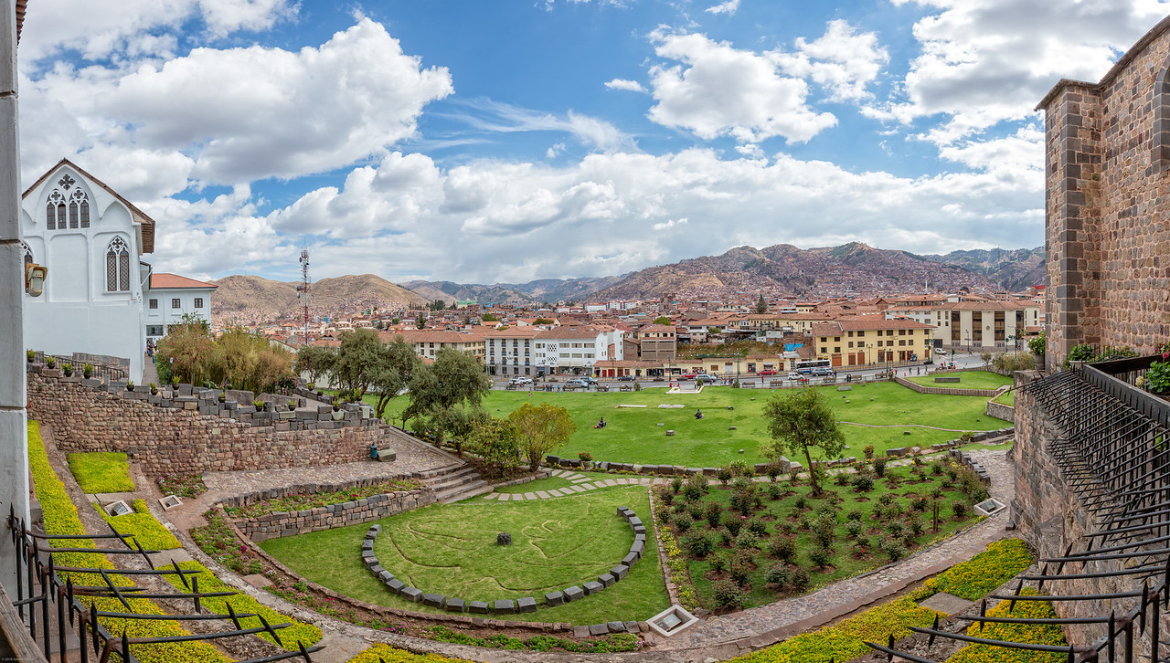 Panoramic View of Cusco From Santo Domingo del Cusco