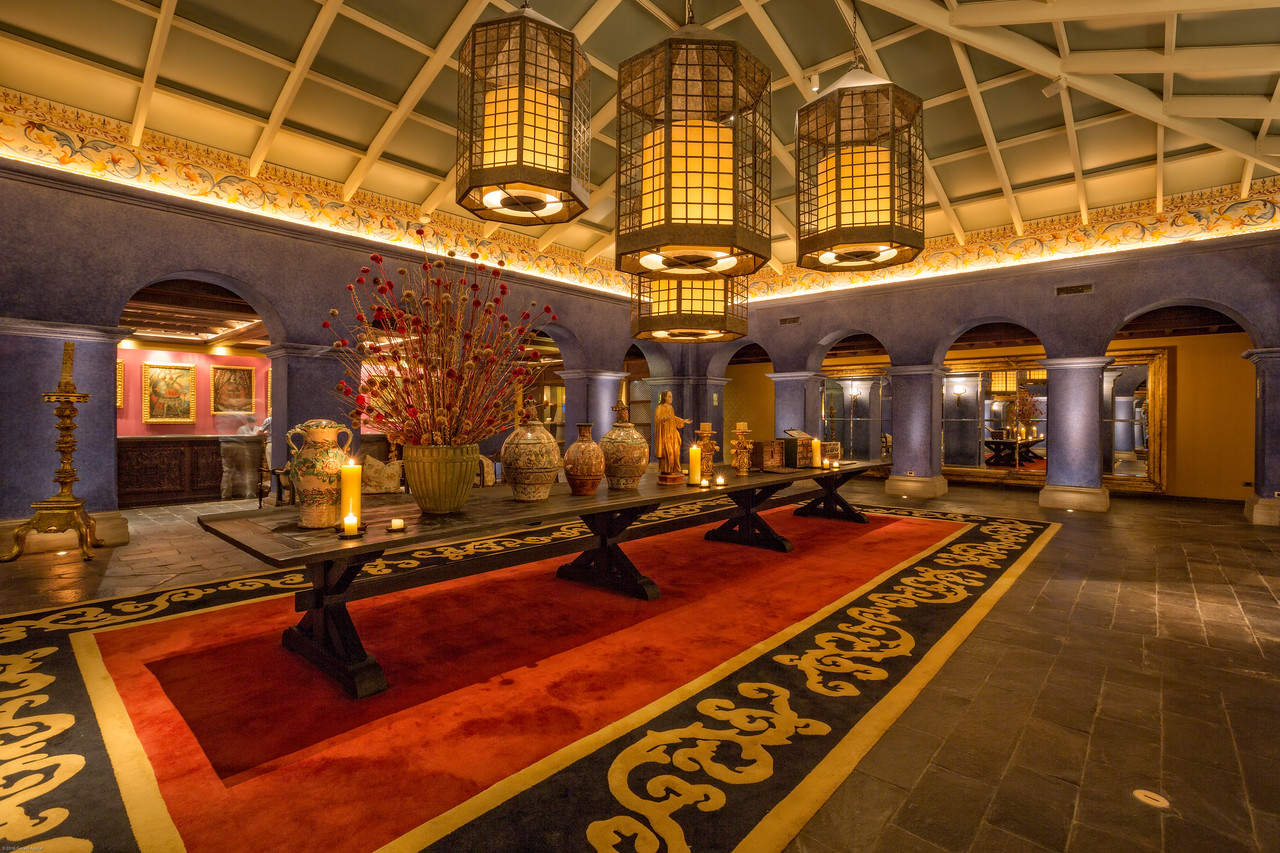 Lobby of our Hotel in Cusco - Evening