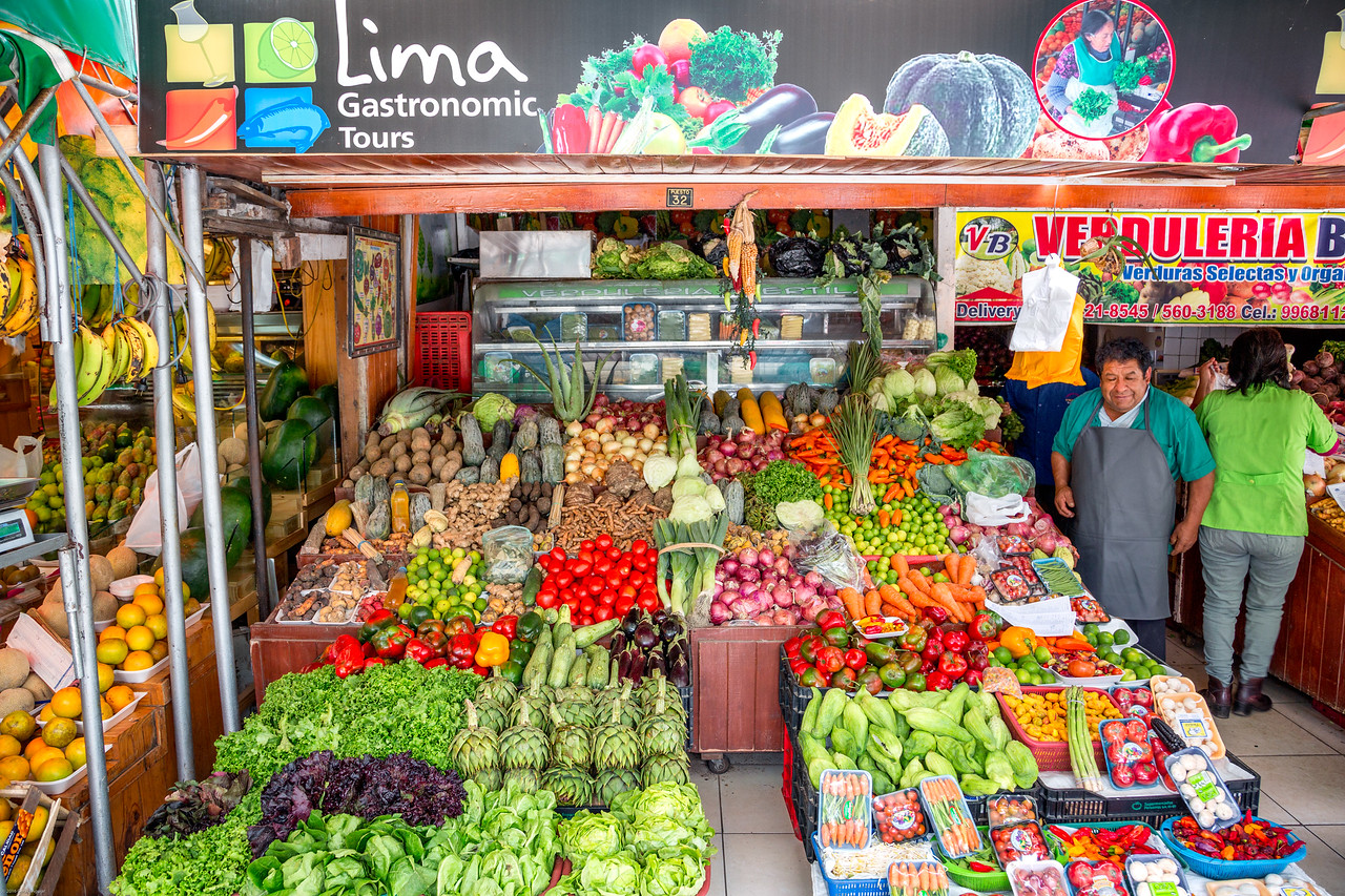 Lima Gastronomic  Fruit & Vegetable Stand - Lima Open Air Market