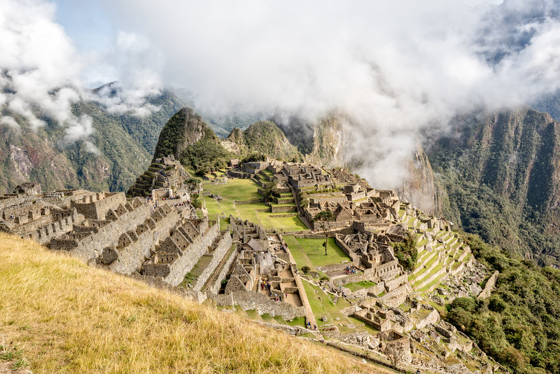 View of Machu Picchu on the Inca Trail to Sun Gate