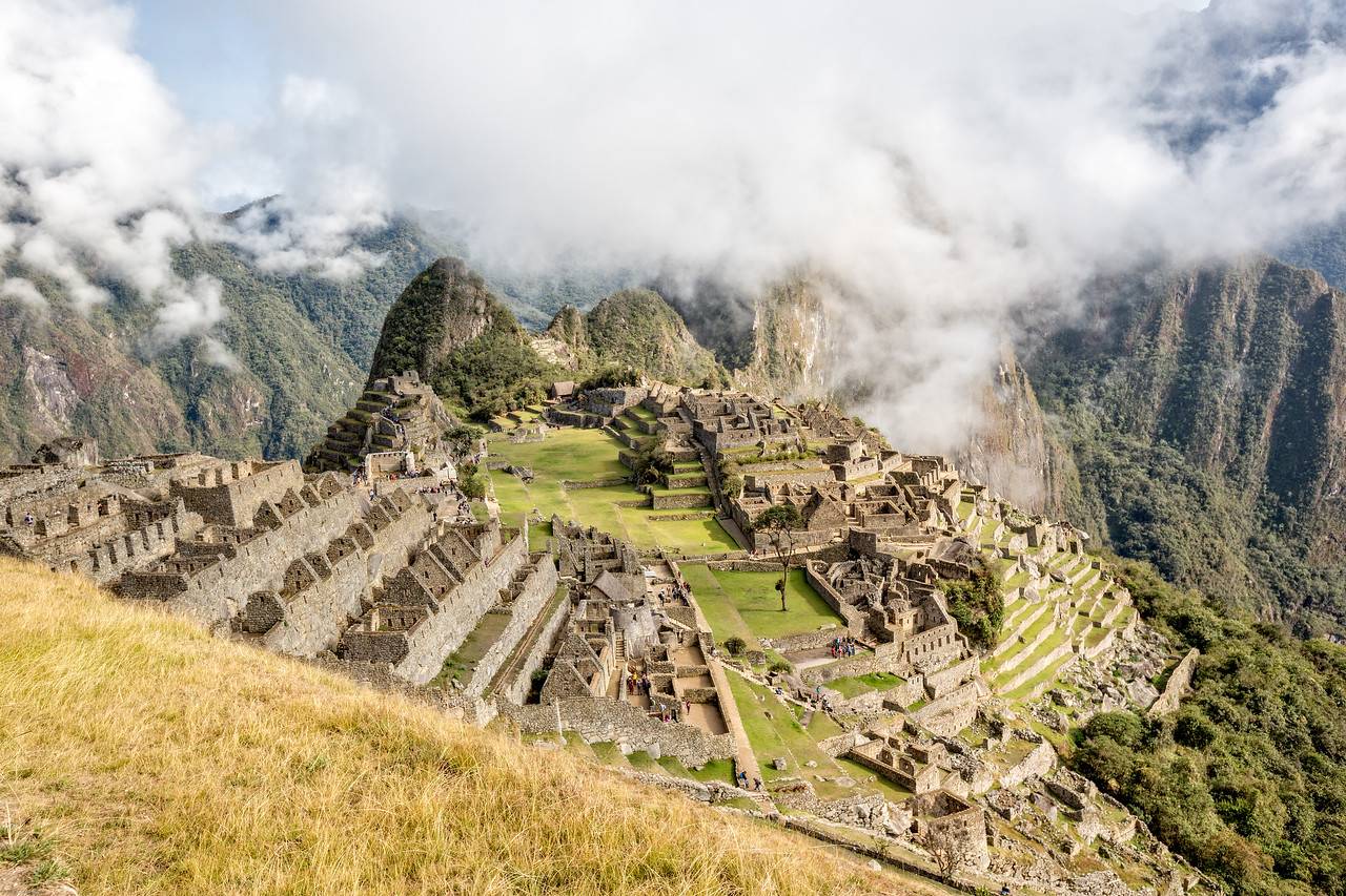 View of Machu Picchu on the Inca Trail to Sun Gate
