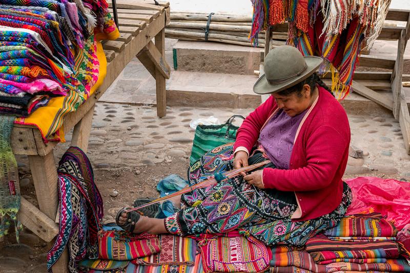 Native Weaver in Pisac Market
