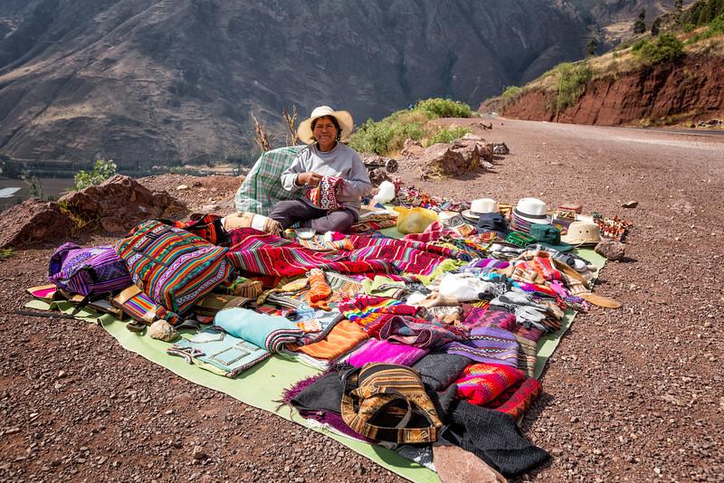 Street Vendor on Road Above Sacred Valley