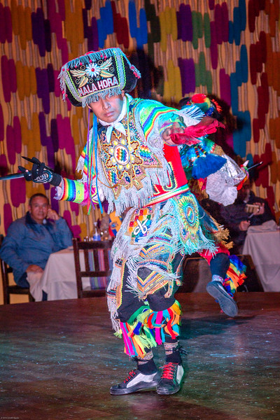 Scissors Dancer at La Damas Juana Restaurant