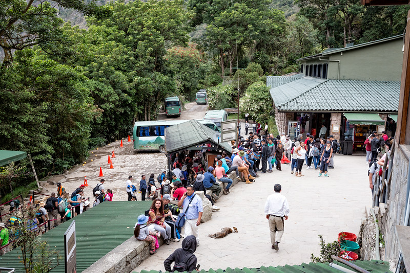 Bus Zone at Entrance to Machu Picchu Citadel