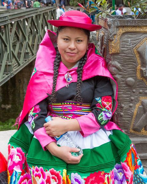 Native Girl in Vibrant Colors