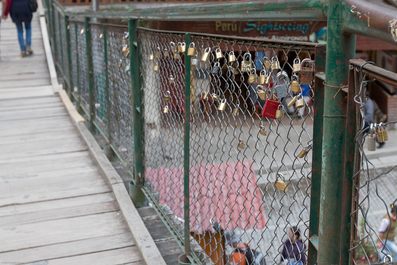Love Locks on Bridge in Machu Picchu