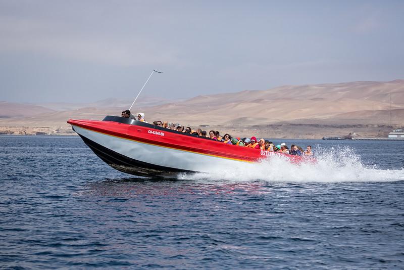 Speedboat Heading Out to Ballestas Islands