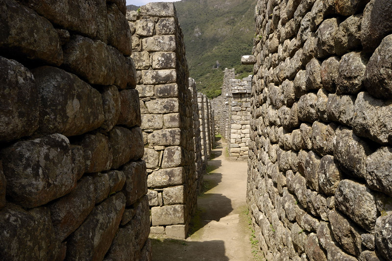 Machu Picchu, dwellings in the Urban Sector.