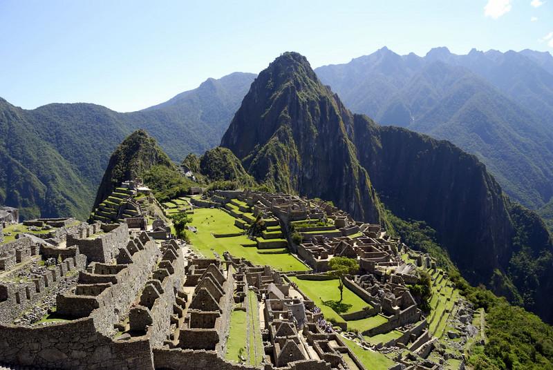 Machu Picchu, a classic view of the city.
