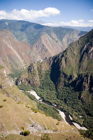 Machu Picchu, Peru - View of Urubamba River Valley to the West (2) (2008-07-05)