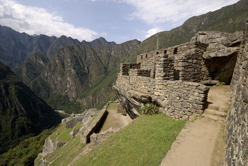 Machu Picchu, dwellings in the Urban Sector overlooking the Rio Urubamba.